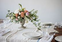Centerpieces + Table Settings / Simple beautiful centerpieces and table settings for every season.