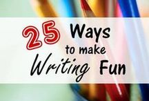 Writing Homeschool / Homeschool writing prompts | learning to write | writing activities for elementary | homeschooling writing ideas | homeschool writing curriculum | learning grammar homeschool language arts curriculum | beginning writing activities | creative journaling for kids | relaxed homeschooling | unschool writing | creative writing | get kids writing