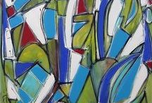 abstracts / Abstract artwork seeks to do more than represent what already exists in the world. It gives form to feelings and ideas. It allows viewers to create their own interpretations. From paintings to fiber art, these abstract pieces are remarkably beautiful and thought-provoking.