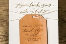 Stationery + Paper Goods / Wedding Invitations, Prints, Escort Cards, Wedding Signage, and Paper Goods.
