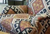 Ikat Fabric / Stunning Ikat fabric in all its glory!