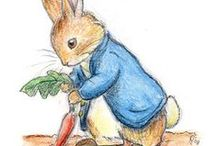 ~ART - Beatrix Potter~ / Born July 28, 1866, Beatrix Potter spent a solitary childhood with long holidays in the country. On one such trip, she wrote and illustrated a story for a sick friend, about four bunnies named Flopsy, Mopsy, Cotton-tail and Peter. She later published that story, and more than 20 others. Potter's tales of Peter Rabbit, Jemima Puddle-Duck, Benjamin Bunny and others have become children's classics. / by Caroline-Jeannine