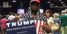 """President Donald Trump / Stop blaming white people for Trumps win. No one wanted Killary. """"We won last night. I'm so glad about it. It's not a white thing, it's not a black thing, it's an American thing. And if you're crying and talking about going to Canada. Please hurry up and go. We have work to do here, and we don't want to be bothered by you whining and talking about how you're leaving. Just go. I am so glad Trump won : ) Praise the Lord!!!"""
