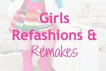 Girls Refashions & Remakes / What to do with those clothes you can't resell?  Remake, refashion, and upcycle.  The best part - every project is one-of-a-kind and eco-friendly -- and some are super simple, too!   Do you have a project to add to this board? Send us your pin to @LoobaLee.