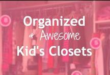 Kid's Closets / If you like to pick out and plan every detail of your child's wardrobe, you probably want an organized and fun closet to enjoy, too.    Or, maybe you care about efficiency and storage.   Find all the best kids closet organization & decorating ideas LoobaLee has scouted out for you here.