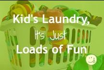 Caring for Kids' Clothes / Keep your kids' clothes lookin' good... and, enjoy doing it!   Fondness for organization and non-toxic,  too.