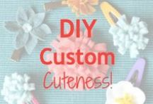 DIY Custom Cuteness / I think I'll try these myself!  Work with new materials, or spiff up hand-me-downs and resale basics.