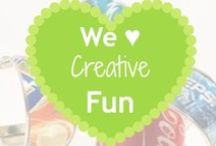 We ♥ Creative Fun / Being crafty takes creativity.  Why not harness that creativity and combine it with reducing waste?  These are some great ideas that help with both!