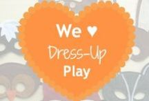 We ♥ Dress-Up Play / Dress-up play inspires the imagination.  Here are fun things to make and do with supplies you likely have around the house.  Many of these pins will inspire DIY costume ideas, too.   #upcycle #recycle #dressup