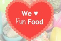 We ♥ Fun Foods! / Spending time with kids is always a good thing and sometimes the only time to do it is when preparing food.  Cooking together is a good way to teach kids about forming healthy habits from eating right to minimizing food waste.