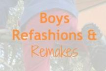 Boys Refashions & Remakes / What to do with those clothes you can't resell?  Remake, refashion, and upcycle.  The best part - every project is one-of-a-kind and eco-friendly -- and some are super simple, too!  Do you have a project to add to this board?  Send us your pin to @LoobaLee.