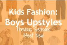 Kids Fashion:  Boys Upstyles / The season's coolest, trendiest color combinations.  You'll find these in #boysclothes and #girlsclothes too.  Look for them on #resale or buy new (they are sure to combine well with future seasons)