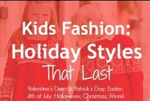 Kid's Fashion:  Holiday Styles / Children's holiday clothing tends to sell well on resale -- if you time it right!  These styles should have wide appeal.  We also like styles that can be worn before and after the holiday, too!  Get more for your $$ with these Holiday Styles.  #boysclothing #girlsclothing