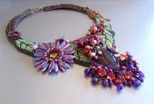 Below in the valley the flowers are resplendent.....Floral autumn / https://www.etsy.com/listing/250179665/birthday-discount-bead-embroidery-collar?ref=shop_home_active_1