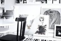 black and white / black and white in interiors