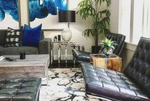 #SURYASPACES: Living Room / A collection of images of Surya products in action.  See how others have used Surya rugs, pillows, poufs, throws and wall art in their home to inspire ideas for your own!