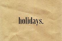 •holidays•