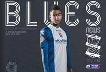 Blues News covers / A selection of Blues News covers, the official matchday programme of Birmingham City Football Club.