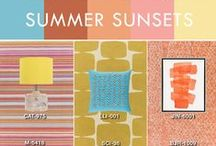 Summer Sunset / In nature, the varied shades of twilight dance a line between warm oranges and deep pinks. A fresh new trend in the world of home fashion, accessories in this unexpected color combination create an energetic counterpoint to a room filled with subtle neutrals.