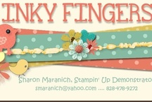 Sharon's Inkie Fingers / Items I have made using Stampin' Up.