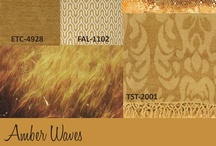 Amber Waves / Take a golden opportunity to amp up the style wattage. Taking inspiration from nature, this trend towards honeyed tones bring warmth and light into a living space.  Surya carries a full range of rugs, pillows, poufs and throws in this sunny hue.