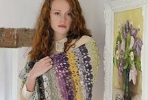 Knitting and Crochet / Folksy, autumnal, heathers, rustic  and cosy.