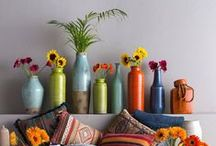 Accents / Vibrant colors with interesting silhouettes take shape with Surya's line of vases & accents. Dress up your bookshelf, mantle, or coffee table with one of these beautiful accessories.