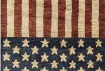 Americana / The Americana trend pulls from the rich and storied past of our country, with pieces that reflect a worn, antiqued quality. Surya's American flag-inspired rugs and accessories make bringing this look into your home as easy as apple pie. / by Surya