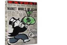 KIng of Pop Art Monopoly /Wall Street Series: Nelson De La Nuez / The King of Pop ArtOriginal Monopoly paintings themes: Wall Street, finance, wealth, Travel by Nelson De La Nuez