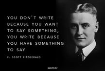 Writers and Writing / Inspiration and creative ideas for writers and writing