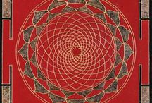 Mandalas / Mandala is a Sanskrit term meaning 'circle'. It is much more than a simple circle, it is is a spiritual symbol in Buddhism and Hinduism representing the Universe.   The basic form of most mandalas begins with a central point in a circle, and a square or four gates. Mandalas often represent fundamental balance or universal harmony.