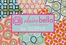 Clairebella / Founded by celebrated designer Kathy Denness, Clairebella is all about personalized products that make a bold statement about stylish living. Clairebella's rug collection for Surya, named Miranda, artfully merges organic designs inspired by nature and found objects with a vibrantly hued palette to bring a bold, fresh aesthetic to both indoor and outdoor living spaces.