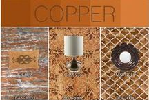 Copper / Add a warm and rustic feel to your home with copper accessories! A number of Surya rugs, pillows, lamps, and more take on this classic metallic hue – infusing spaces with energy and a refined glow.