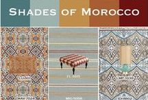 Shades of Morocco / Shades of teal, gold and red combine to create a rich palette inspired by ceramic tilework from traditional Moroccan architecture. Surya honors this timeless trend with a range of striking accessories.