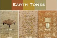 Earth Tones / Resembling the colors of the terrain, the Earth Tones palette combines muted shades of olive with warm rust and saturated gold. Explore Surya rugs and accessories reflecting these down to earth shades.