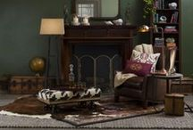 Sherlock / Rich, dark hues create moody, eclectic spaces with an aura of intrigue and mystery.  Rooted in tradition with an heirloom feel, these environments are now made modern and relevant.