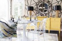 #SURYASPACES: Dining Room / A collection of images of Surya products in action. See how others have used Surya rugs, pillows, poufs, throws and wall art in their home to inspire ideas for your own!