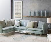 """Fall 2017 Trend: Glacial / Inspired by the frosted textures and organic patterns of glacial landscapes, Surya's Fall 2017 """"Glacial"""" trend comprises soft tranquil shades of blue and green merged with muted grays and neutrals. Colors complement contemporary wood, stone and concrete surfaces."""