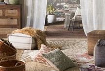 """Fall 2017 Trend: Wilderness / Embracing the carefree pioneering spirit, Surya's Fall 2017 """"Wilderness"""" trend celebrates the beauty and craft of handmade and artisanal products. Natural, earthen tones are combined with undyed fabrics, yarns and raw materials."""