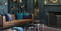 """Fall 2017 Trend: Curiosity / Surya's Fall 2017 trend """"Curiosity"""" features rich, moody tones that invite a sense of mystery and drama in a highly-curated space. The play of light and shadow is enhanced with metallic accents as well as decadent velvet and leather textiles. Distressed and antique finishes bring a sense of heirloom and nostalgia."""