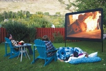Outdoor Theater Inspiration / Transform your backyard into an outdoor theater. Here we post some of our favorite backyard theater setups. Get inspired! / by Projector People