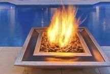 Home--Fireplaces & Pits / Fireplaces and Fire pits...Indoors and Out / by Cara Li