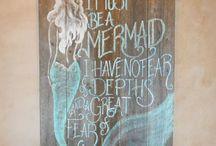 Painted Mermaids / Handpainted Mermaids.