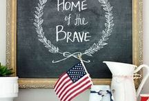 Patriotic Home Decor Ideas / Patriotic home decor ideas, full of inspiration for decorating with red, white, and blue with an Americana style. Patriotic Home Decor | Americana Decor | Red, White, and Blue Decor | Cottage Decor