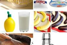 Kitchen + Household Hacks / Tips and Ideas for making cooking, cleaning, and homemaking easier! Cooking Tips | Kitchen Tips | Household Hacks  | Cooking Hacks