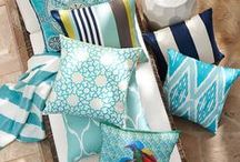 Turquoise / We love turquoise home decor for the instant cheer it brings to our homes — whether it's turquoise pillows, duvets, dishes or dressers.