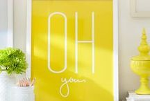 Sunshine Yellow / Brighten up your day with a dose of bold, bright and cheerful sunshine yellow.  / by Pottery Barn