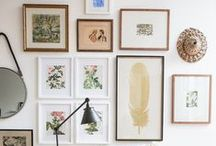 Gallery Walls / A good gallery wall can be anything you want it to be — a nine-grid in your living room, an eclectic display of paintings in your stairwell, or a simple row of photos in your bedroom.