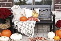 Decorate Your Home for Fall / It's that time of year — let's decorate our homes with pumpkins, gourds and plenty of warm fall colors and chunky knits.