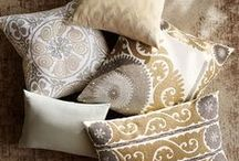 Good as Gold / Glimmers of gold accessories, trays, lamps and furniture throughout your home will make your space shine!